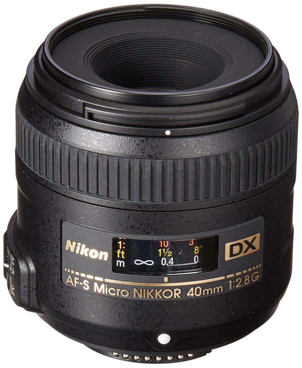 Nikon AF-S DX Micro-NIKKOR 40mm f/2.8G Close-up Lens for Nikon DSLR Cameras by Nikon