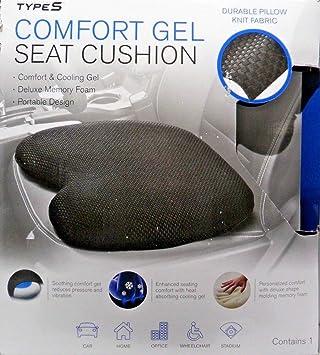 Amazon.com: comfort Gel Cojín Almohada para coche, casa ...