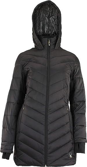 Spyder Women's Boudless Long Puffer Jacket, Color Variation