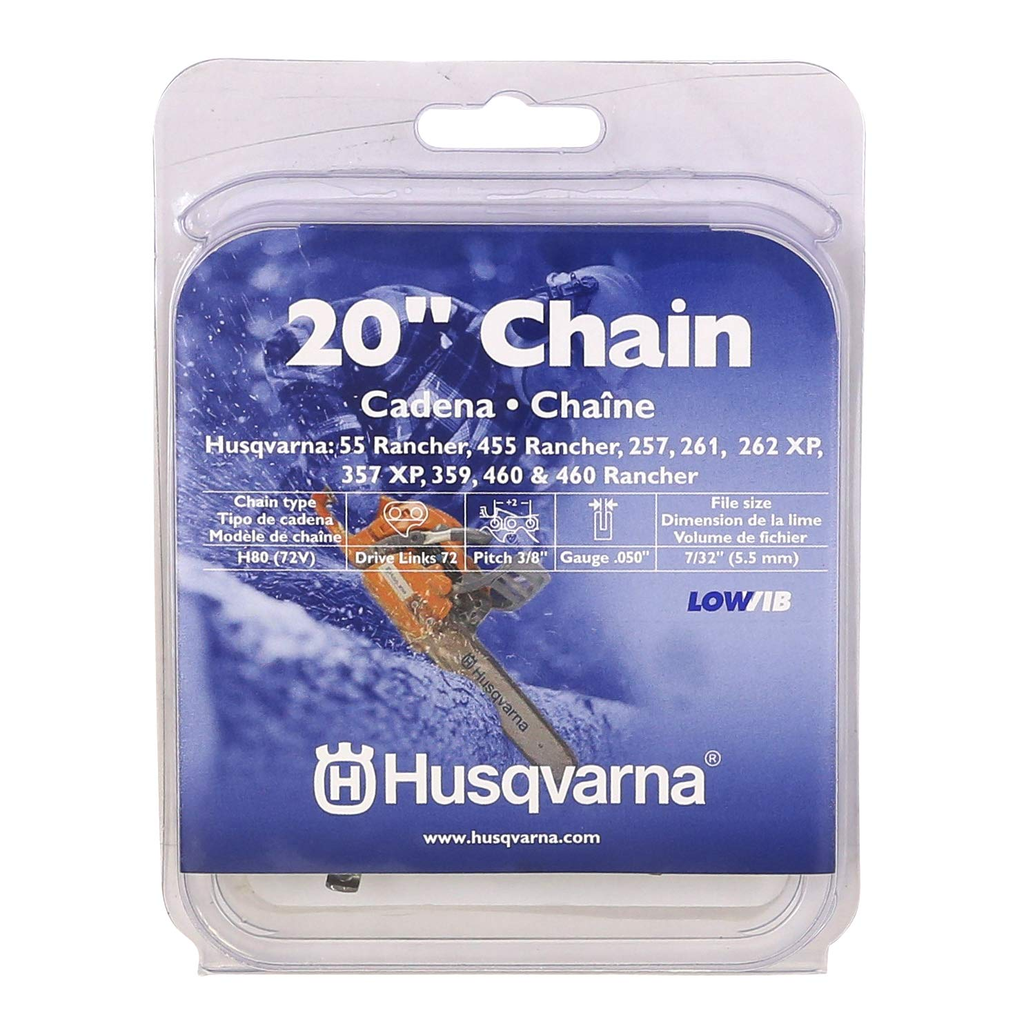 Husqvarna 20 Inch Chainsaw Chain H80-72 531300441 (0.375 Inch Pitch .050 Inch Gauge) by Husqvarna