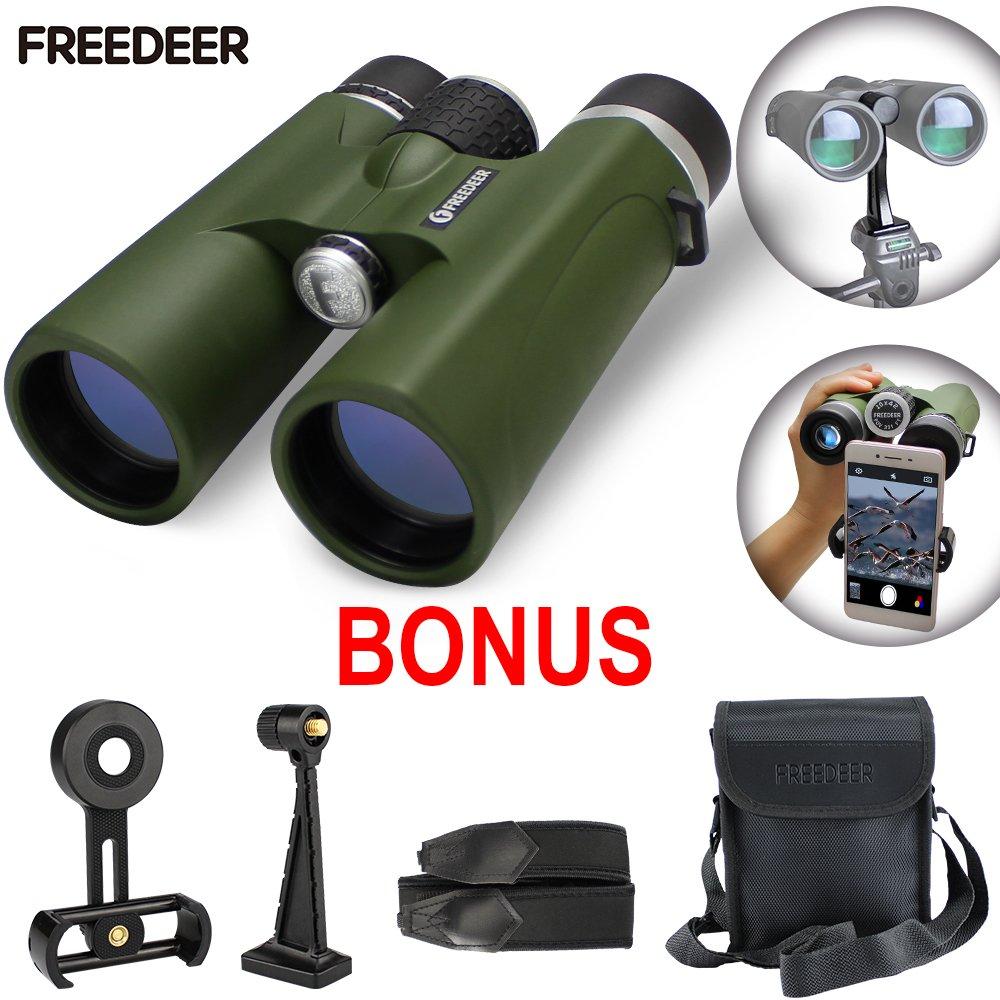 双眼鏡for Adults、防水/ Fogproof、プロフェッショナルHD bak4プリズム& FMCレンズと電話アダプタと三脚アダプター双眼鏡for Bird Watching、旅行、Stargazingスポーツ、狩猟、コンサート、 B077FSRYSP 10x binocular green 10x binocular green