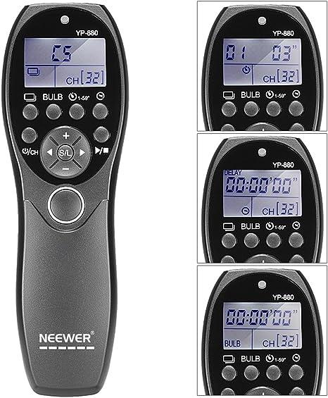 Neewer NW-880 DSLR - Kit Temporizador para Cámara Obturador ...