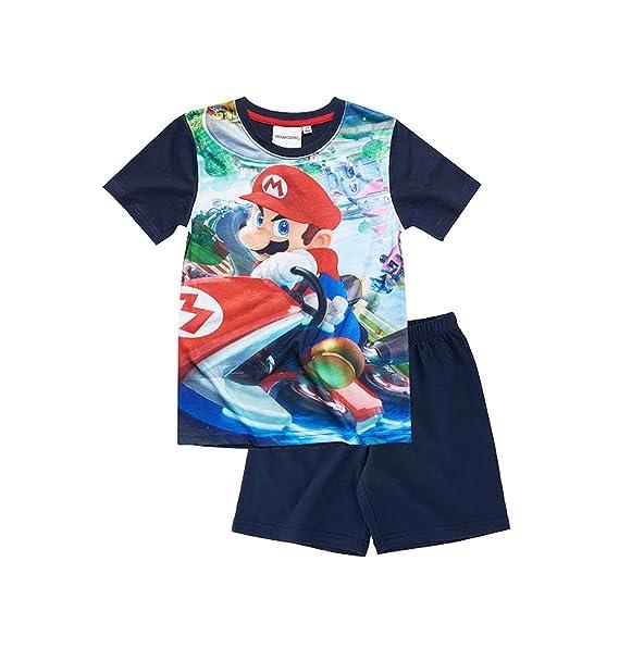 Mario Bros - Pijama dos piezas - para niño azul marino 10 años