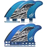 Naked Viking Surf: Medium/Large JL Thruster Surfboard Fins (Set of 3 Fins) FCS & Futures Compatible