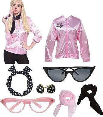 50/'s Style Ladies Glasses WhiteGirls Night OutHen PartyFancy Dress