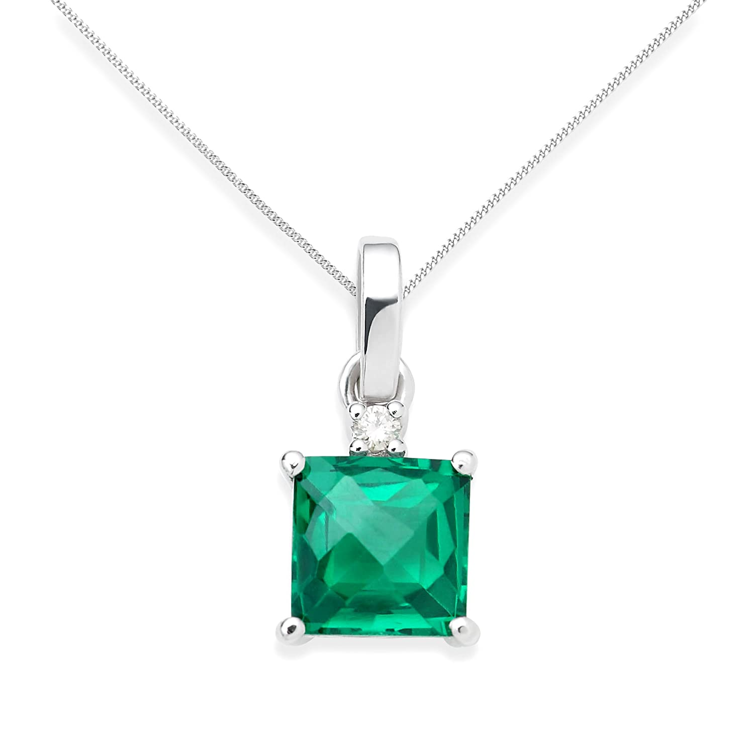 with cushion aa diamond itm chain pt pendant ebay emerald necklace halo cut