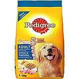 Pedigree Chicken & Vegetables,Dry Dog Food for Adult Dogs (Labradors, German Shepherds, Pugs etc), 1.2Kg