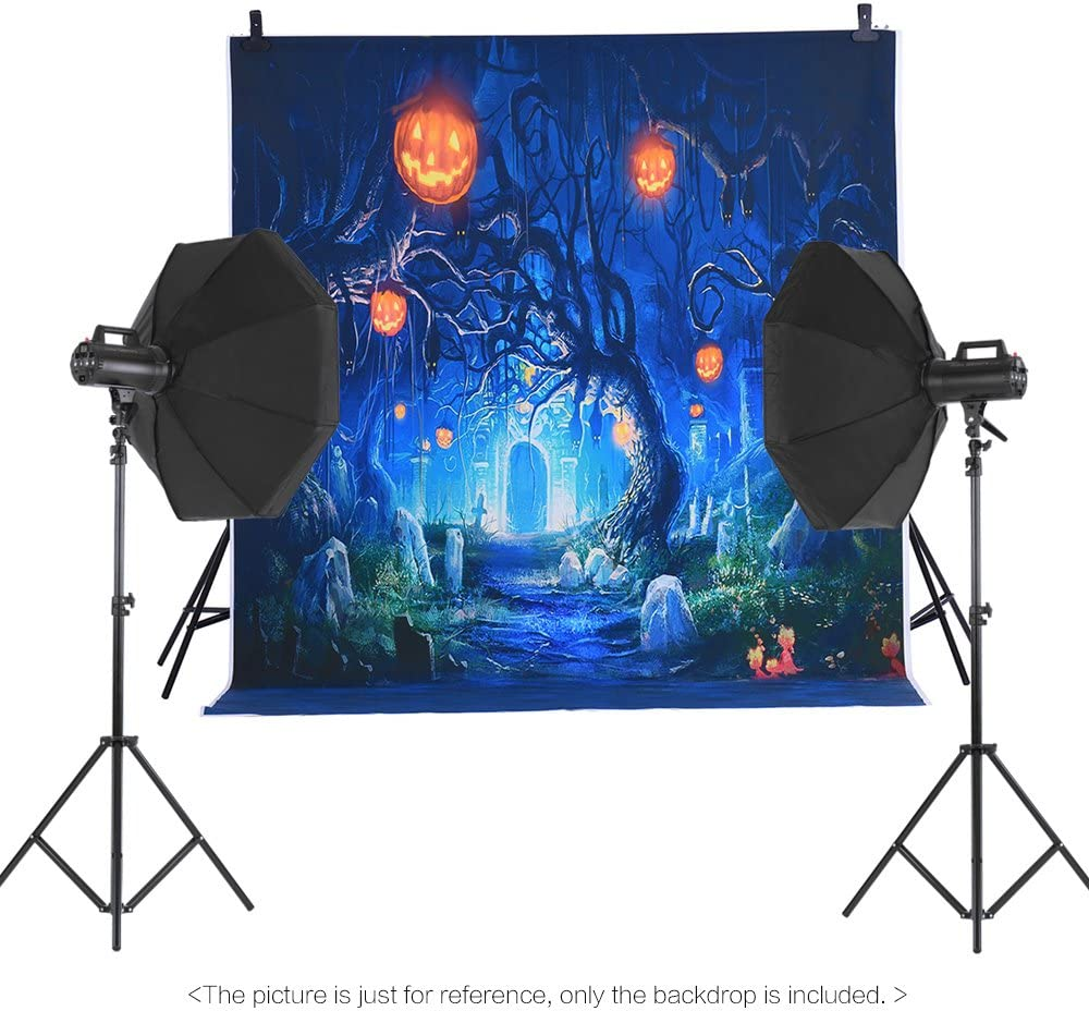 Andoer 1.5 x 2m Halloween Backdrop Horror Night Pumpkin Lamps Tombstone Photography Background WAS £19.98 NOW £9.99 w/code XLBDJ5YJ @ Amazon