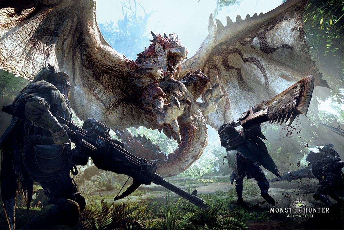 Póster de batalla con dragón feroz