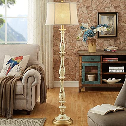 Edge To Floor Lamp Resin Floor Lamp Living Room Simple Sofa Lamp Hand  Painted Cloth