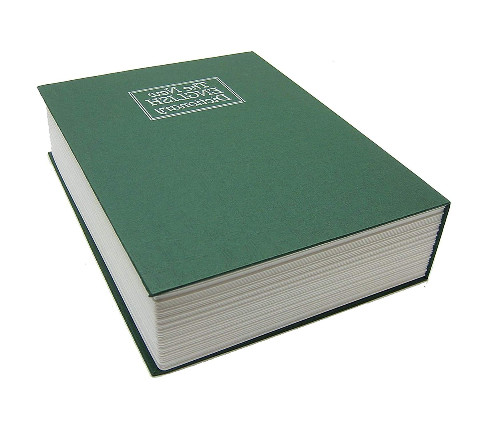 Bluеdоt Trаding Office Home Furniture Premium Secret Book Hidden Safe with Key Lock, Small, Green