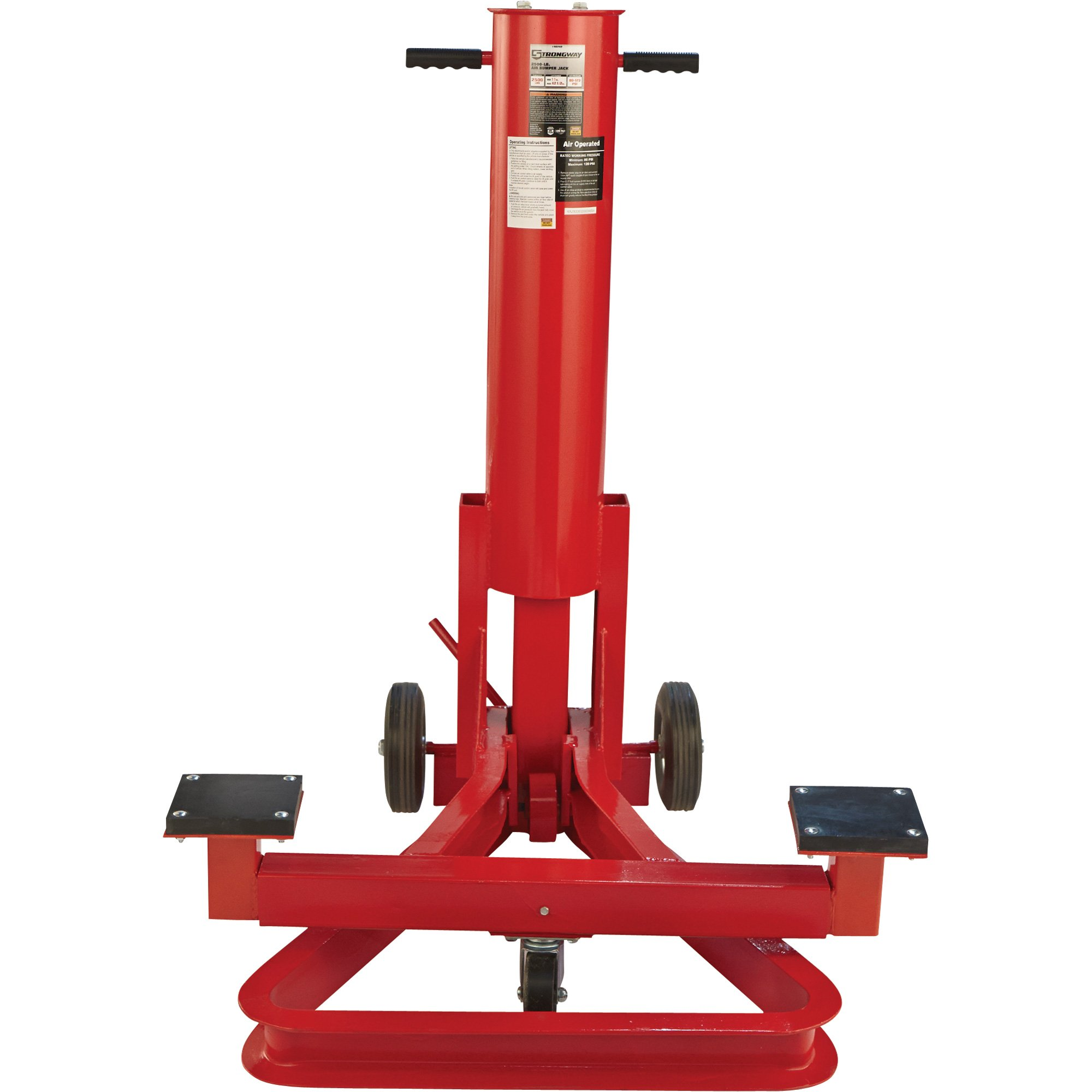 Strongway Air Bumper Jack - 1 1/4-Ton, 11in.-42 1/2in. Lift Range