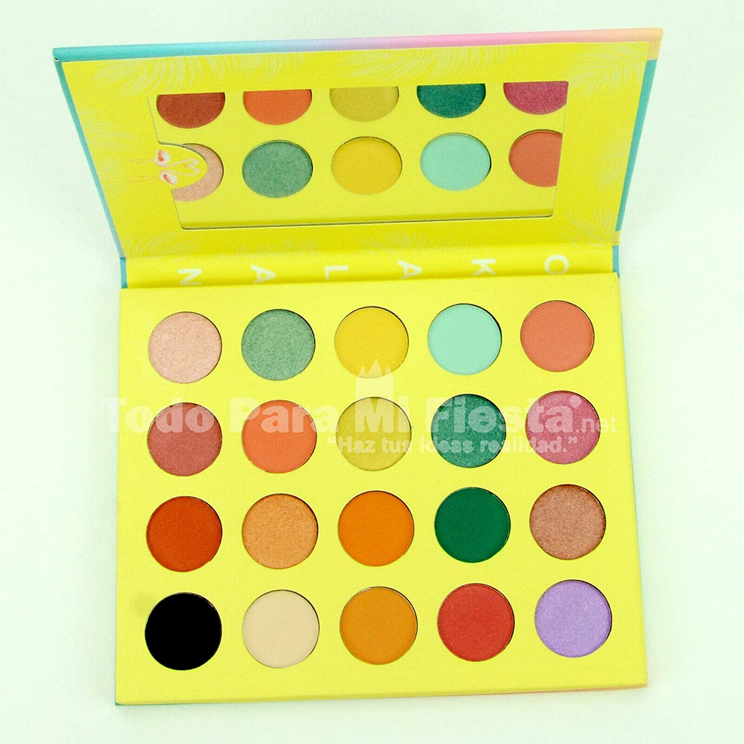 Okalan Paradise Eyeshadow Palette High Pigmented Saturated Shades