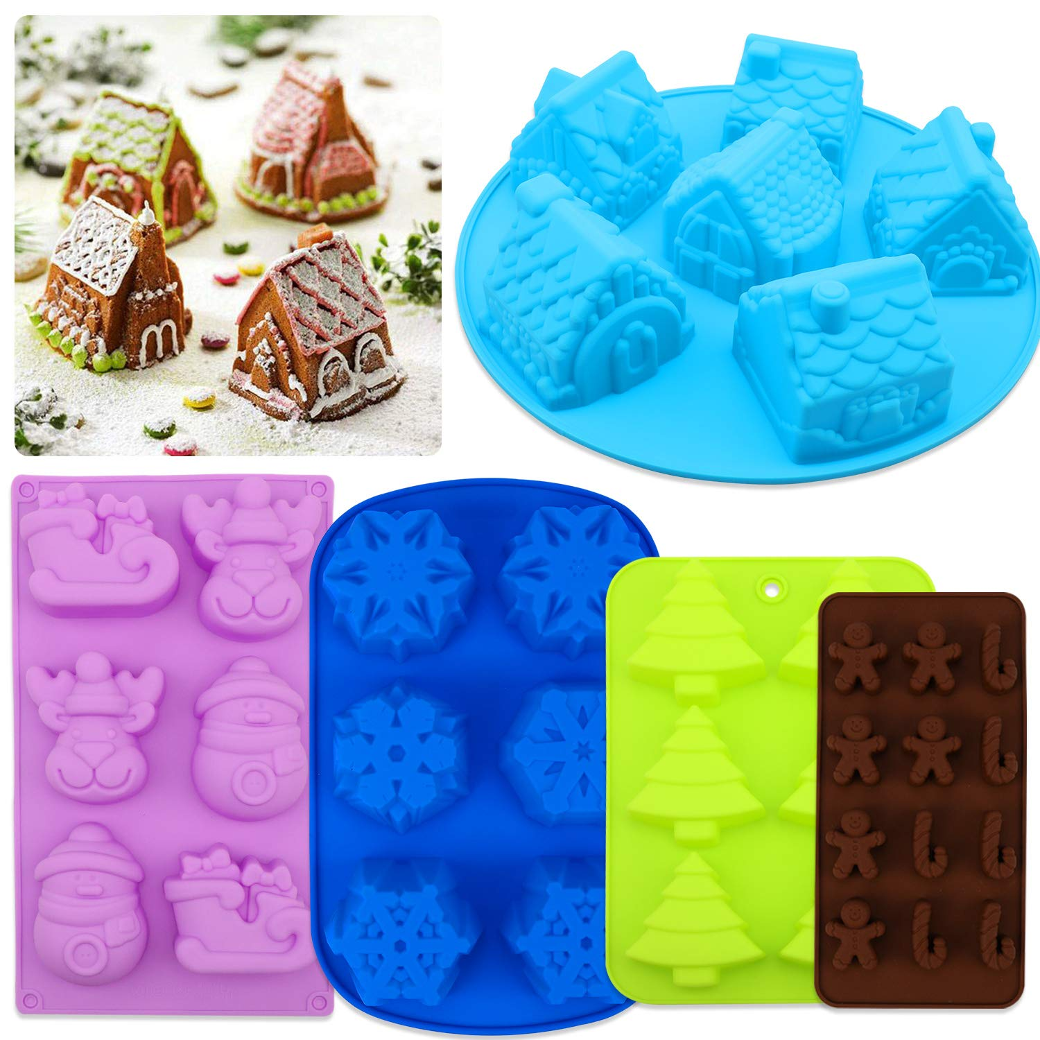Christmas Tree Silicone Fondant Cake Sugarcraft Mold Chocolate Baking Mould KS