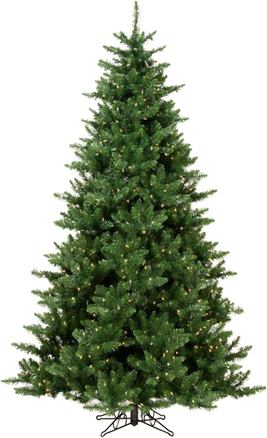Amazon Com Northlight Pre Lit Northern Pine Full Artificial Christmas Tree With Clear Lights 12 Home Kitchen
