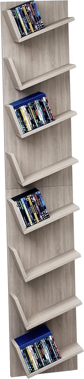 Wood White 90x33x16 cm VCM CD//DVD Design Shelf Lansi