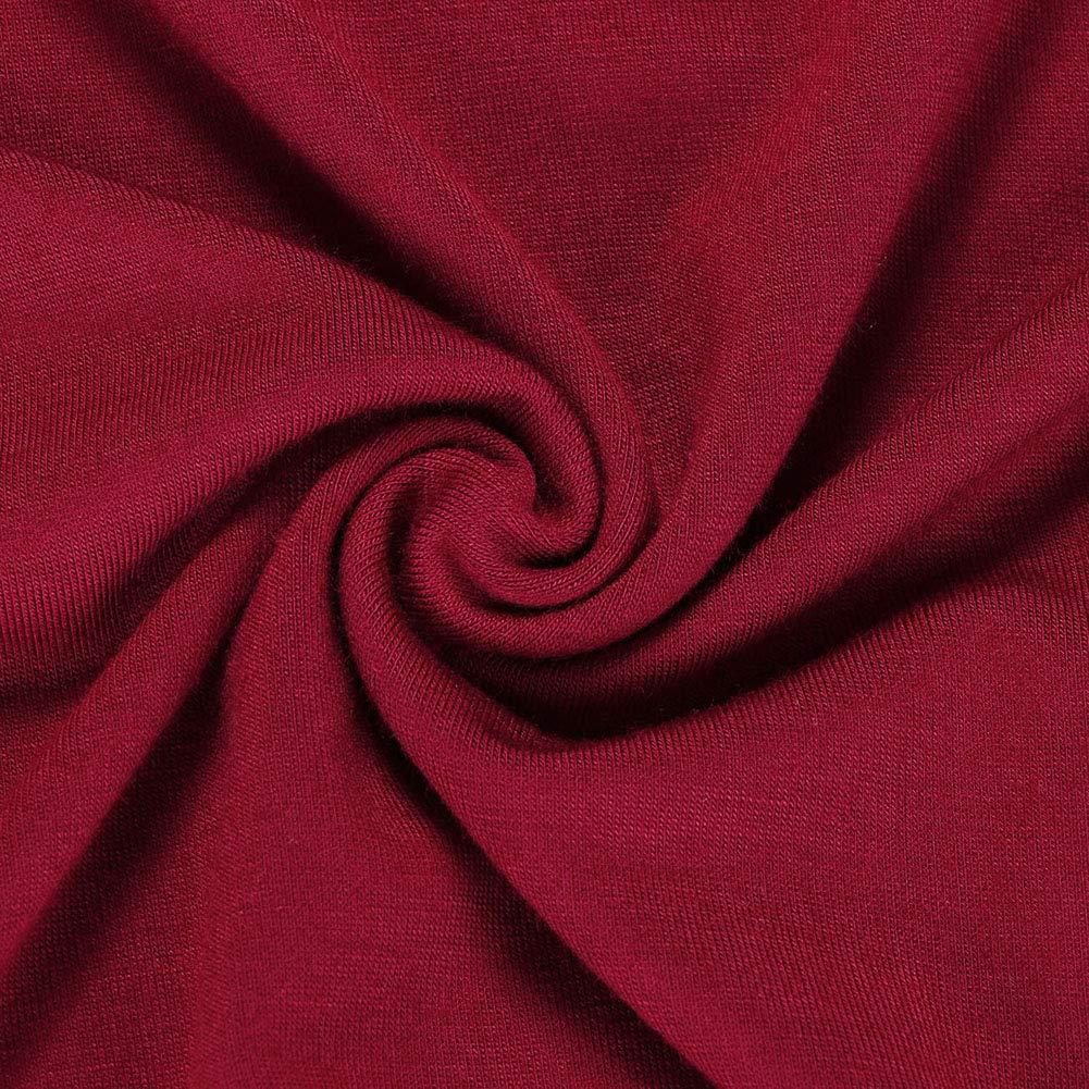Lover-Beauty Camisa y Blusa Mujer Verano Corto Cuello Redondo Cl/ásico Color S/ólido Ajustado Sin Manga Chaleco con Manga Corta 3//4 B/ásico T-Shirt Casual Muchos Estlios y Colores