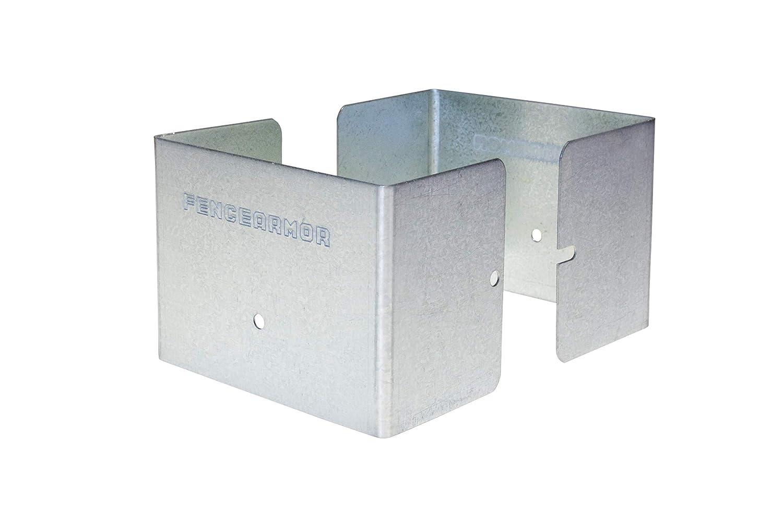 1 par de protectores de poste de acero galvanizado para valla de ...