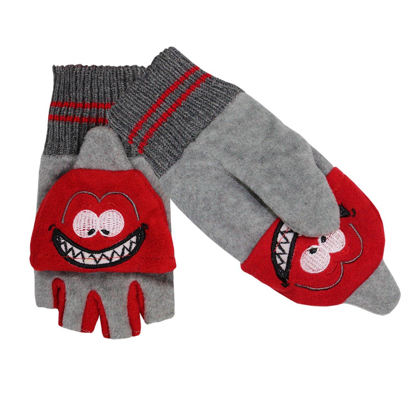 Galeja Kinder Handschuhe mit Klappe lustige Tiere Fingerhandschuhe Jungen Mädchen GC 68