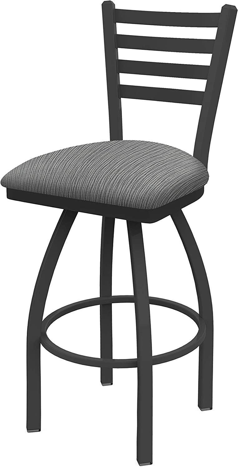 Holland Bar Stool Co. 41036PW020 410 Jackie Swivel Bar Stool, 36 Seat Height, Graph Alpine