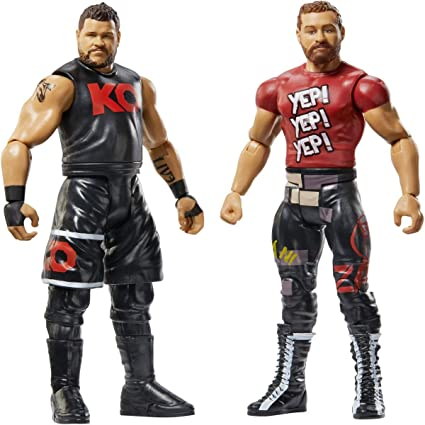 WWE - Pack de 2 figuras de acción, luchadores Kevin Owens y Sami Zayn (Mattel GBN54): Amazon.es: Juguetes y juegos