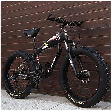 Qj Bicicletas De Montaña, 26 Pulgadas Fat Tire Hardtail Bicicleta ...