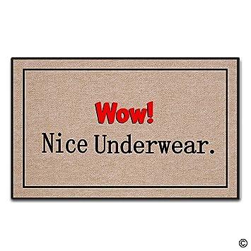 Artswow entrada Felpudo – Felpudo personalizado – wow. Bonita ropa interior antideslizante Felpudo 18 pulgadas