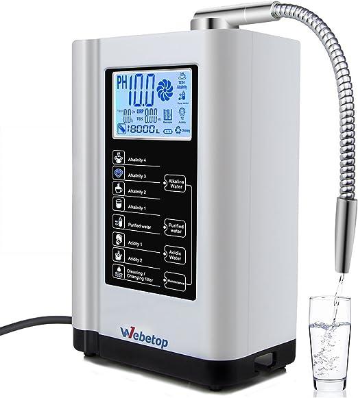 Webetop ionizador de Agua y ácido alcalino pH 3.5-10.5 purificador de Agua Maquina Maquina ionizador de Agua / 7 ...