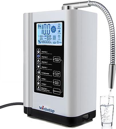 Webetop ionizador de Agua y ácido alcalino pH 3.5-10.5 purificador ...