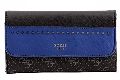 Guess Womens Hailey Studded Logo Trifold Wallet Blue O S at Amazon ... fb9eddbc5e