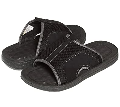 72f5c85367478 Skysole Boys Open Toe Rugged Mesh Slides Sandals Grey 2 3 US Little Kid