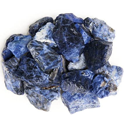 Digging Dolls: 1 lb Sodalite Rough Rocks from Brazil - Natural Raw Crystals  and Stones for Arts, Crafts, Tumbling, Cabbing, Polishing, Wire Wrapping,