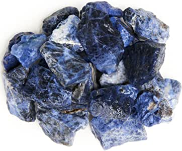 Digging Dolls: 3 lbs Sodalite Rough Rocks from Brazil - Natural Raw Crystals and Stones for Arts, Crafts, Tumbling, Cabbing, Polishing, Wire Wrapping, Gem Mining and Reiki Crystal Healing