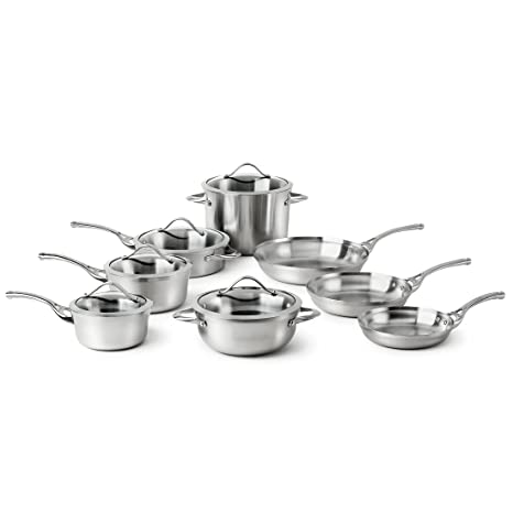 Amazon.com: Calphalon Contemporary Stainless, batería ...