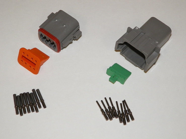 Deutsch DT Series 8 Pin Connector Kit w/Barrel Style Terminals 16-20 AWG LDTK8