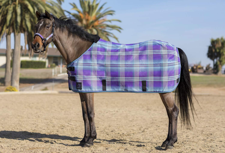 Kensington Protective Products Kensington Pony Protective Fly Sheet, Lavender Mint Plaid, Size 66