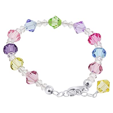 Image Unavailable. Image not available for. Color  Gem Avenue Sterling  Silver Multicolor Crystal Bracelet ... 3704464e44