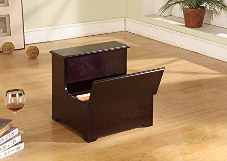 Kings Brand Cherry Finish Wood Bedroom Bed Storage Step Stool & Amazon.com: Kings Brand Cherry Finish Wood Bedroom Bed Storage ... islam-shia.org