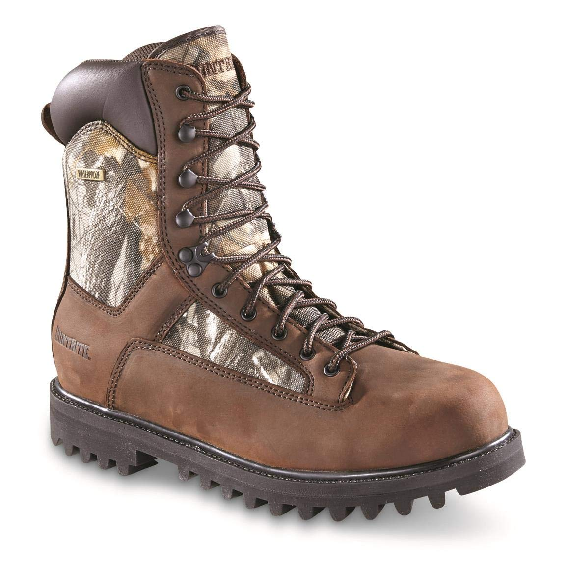 Huntrite Men's Insulated Waterproof Hunting Boots, 400-gram, Realtree Hardwoods Gray, 12D (Medium)