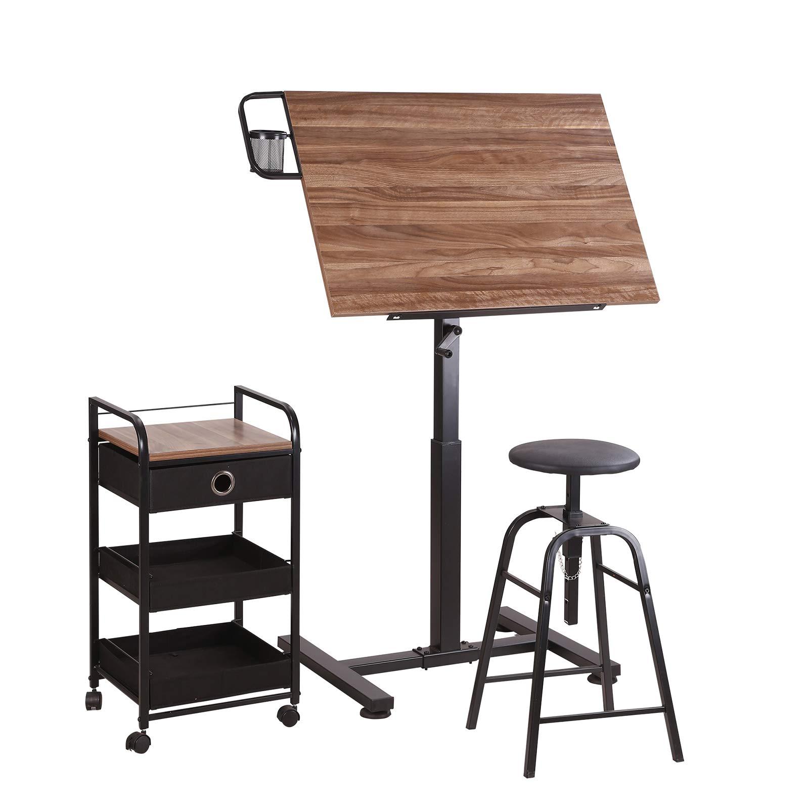 Sit Stand Draft Table Set by Artist's Loft by Artist's Loft
