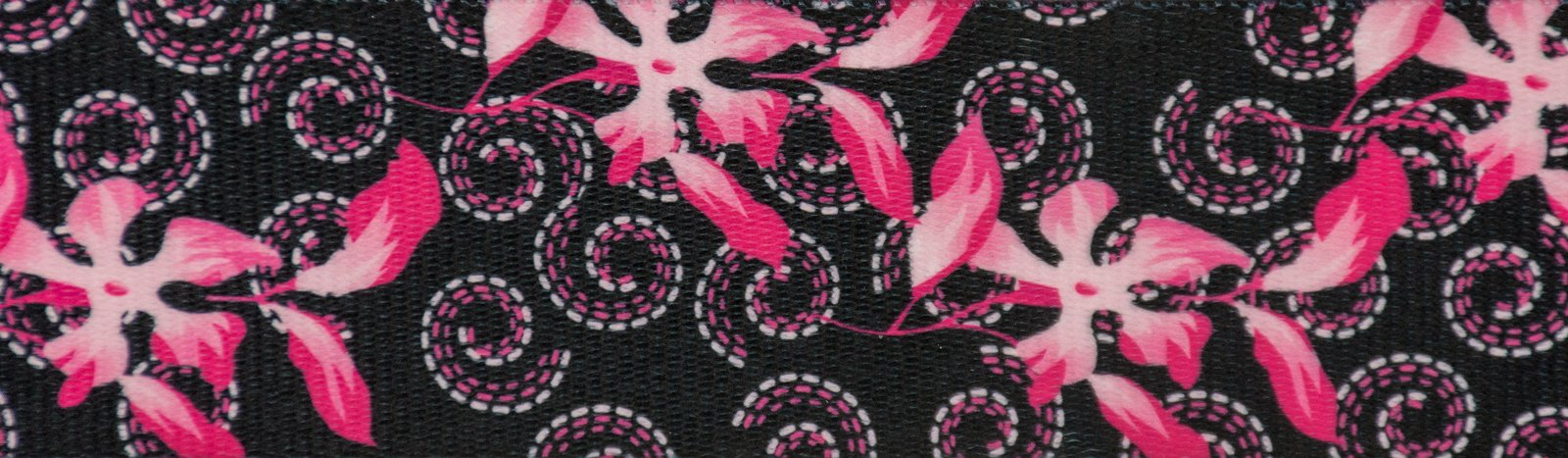 Country Brook Design 2 Inch Pink Honeysuckle Breeze Polyester Webbing, 50 Yards