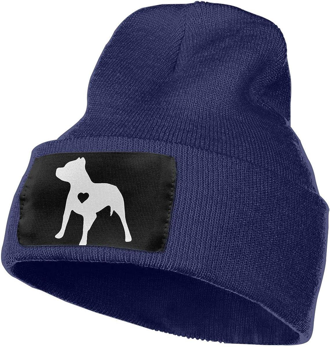 Mens and Womens 100/% Acrylic Knit Hat Cap Love Pitbull Warm Skull Beanie