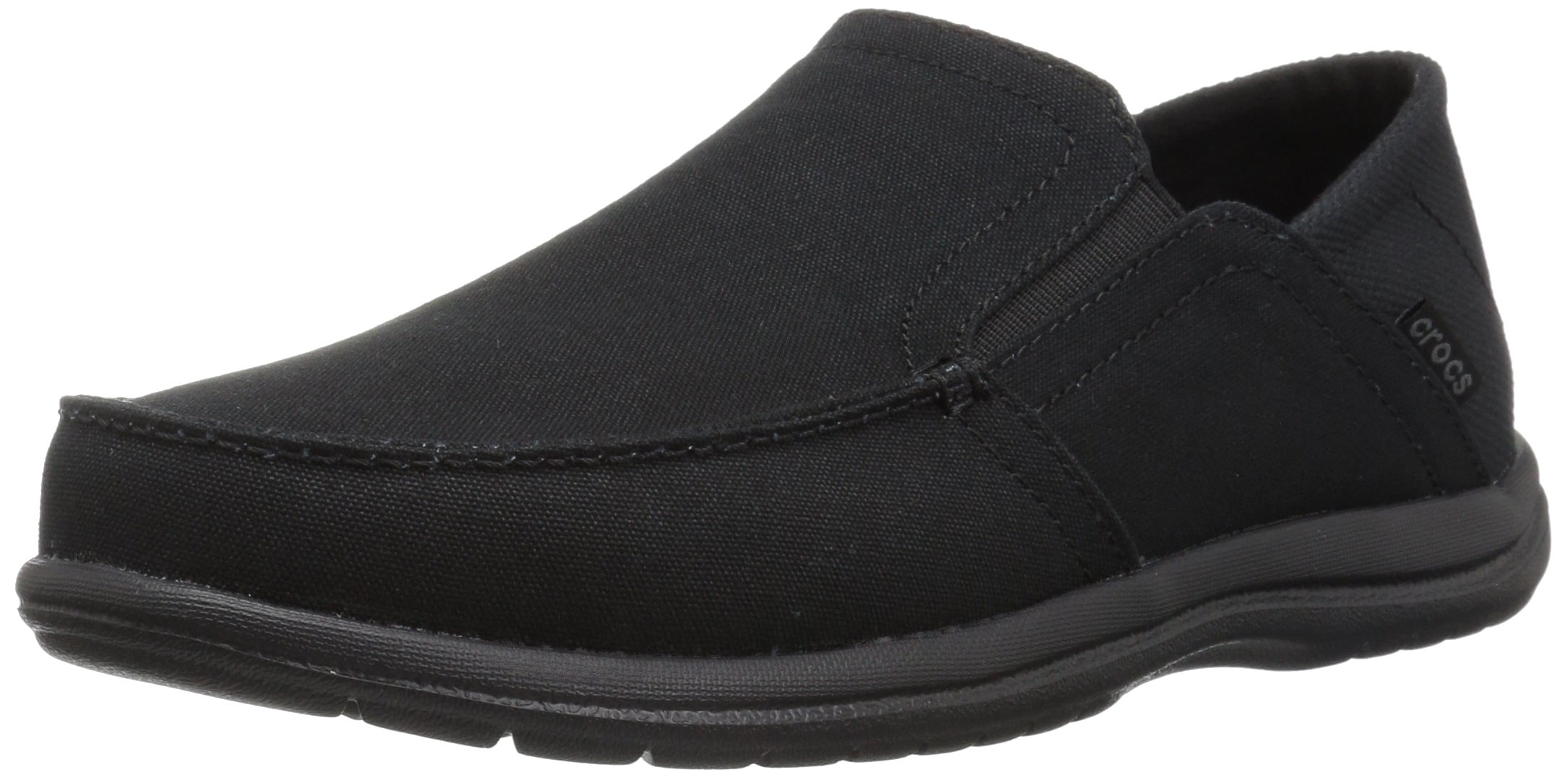 Crocs Men's Santa Cruz Convertible Slip-on Loafer Flat, Black/Black, 10