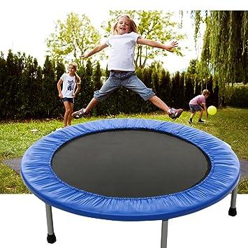 Outdoor Kinder Trampolin Minitrampolin Indoor Fitness Gartentrampolin mit Griff