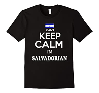 Mens El Salvador I Cant Keep Calm tshirt Camiseta Salvadorian 3XL Black