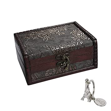 Sicohome Treasure Box 5 46 Inch Treasure Chest For Gift Box Cards Collection Gifts And