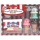 Melissa & Doug 14087 - Juego para servir y apilar bolas de helado
