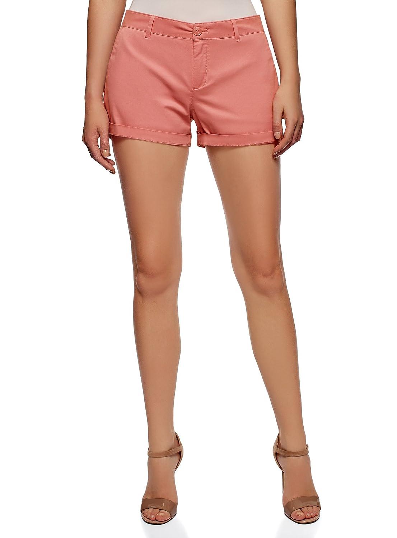 oodji Ultra Womens Belted Cotton Shorts