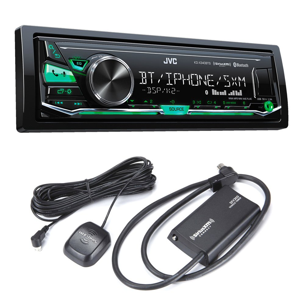 JVC KD-X340BTS Bluetooth In-Dash Digital Media Car Stereo w/ Pandora & iHeartRadio Support with Sirius XM Tuner by JVC