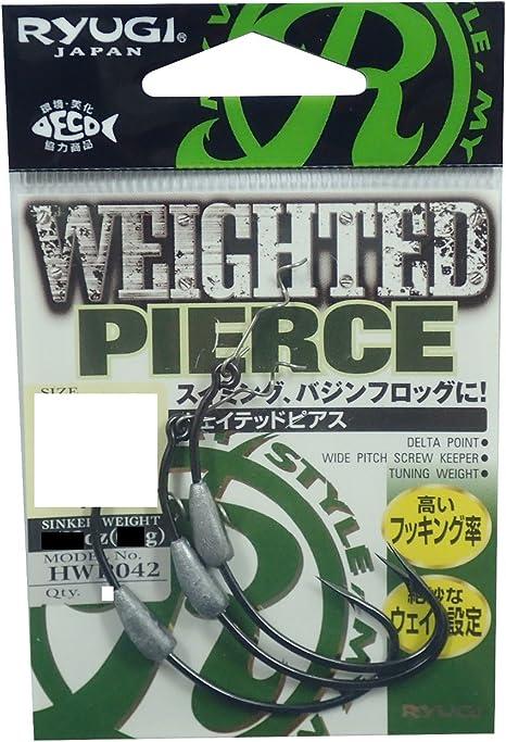 Ryugi HWP042 Weighted Pierce Worm Hook Size 5//0 1.8 grams 1598